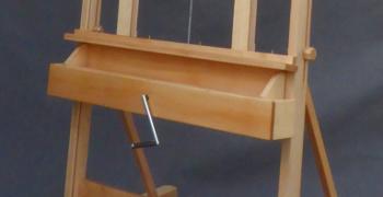długa półka w sztaludze studyjnej korba podwójna
