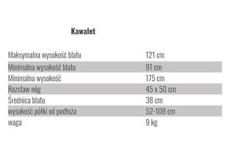 wymiary kawaletu obrotowego drewnianego