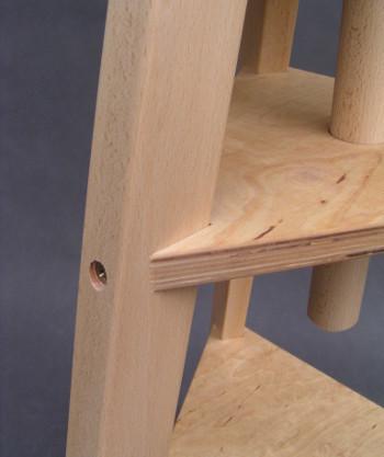Łączenie nóg w kawalecie odbrotowym drewnianym