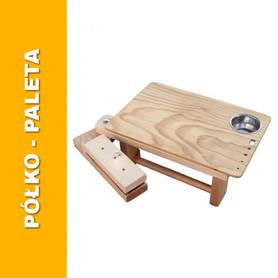 pomocniczy stolik półko paleta do sztalug